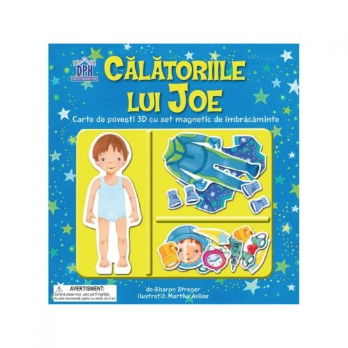 Calatoriile lui Joe: carte de povesti 3D (copii 4+ ani) (ed. tiparita)