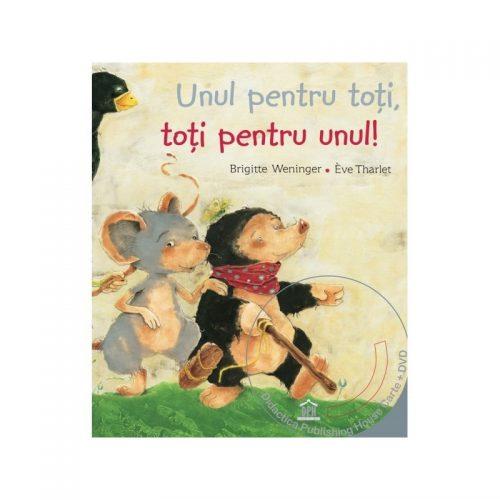 Unul pentru toti, toti pentru unul - poveste animata in 4 limbi (ed. tiparita + DVD)