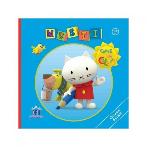 Carte de colorat - Musti (copii 3-4 ani) (ed. tiparita)