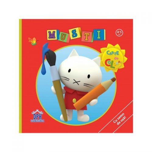 Carte de colorat - Musti (copii 4-5 ani) (ed. tiparita)