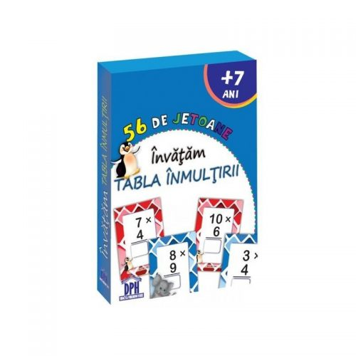 Invatam tabla inmultirii - 56 de jetoane (ed. tiparita)