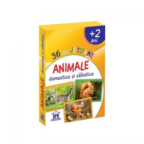 Animale domestice si salbatice - 36 de jetoane (ed. tiparita)