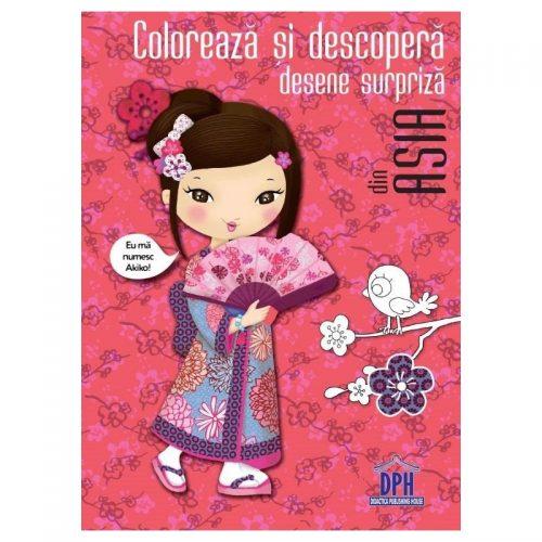 Coloreaza si descopera desene surpriza din Asia (ed. tiparita)