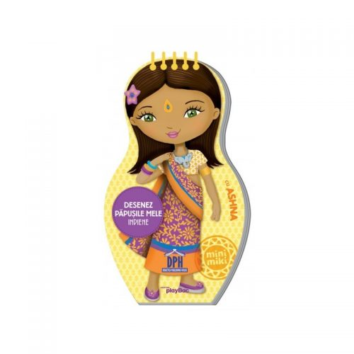 Desenez papusile mele indiene (copii +4 ani) (ed. tiparita)