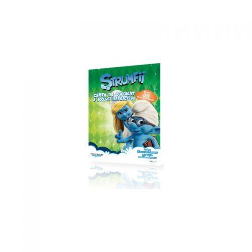 Strumfii, carte de colorat si jocuri distractive (ed. tiparita)
