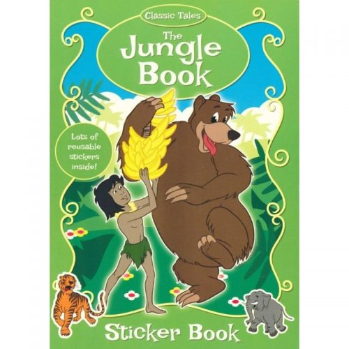 The Jungle Book, carte de colorat cu stickere (ed. tiparita)