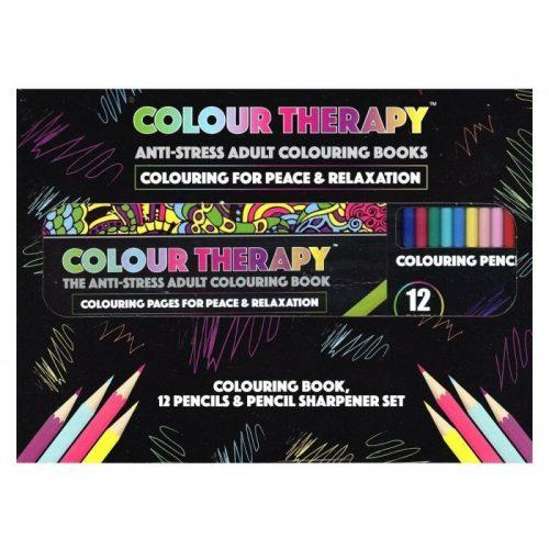 Colour Therapy, carte de colorat pentru adulti, Set de lux (ed. tiparita)