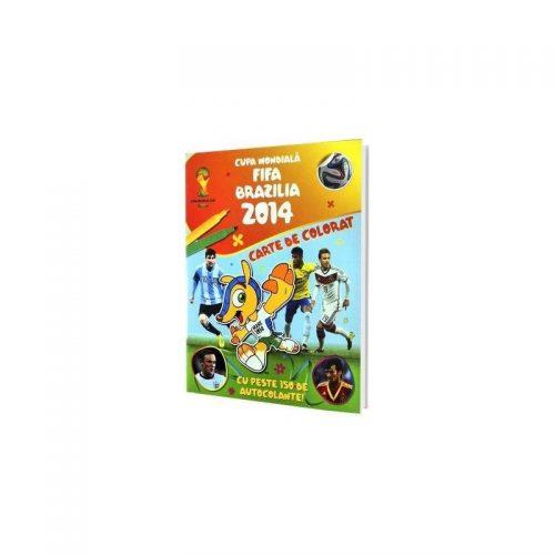 Cupa mondiala FIFA 2014, carte de colorat (ed. tiparita)