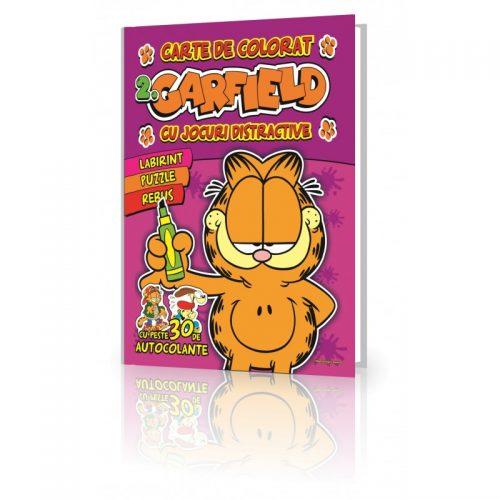 Garfield 2, carte de colorat, cu jocuri distractive (ed. tiparita)
