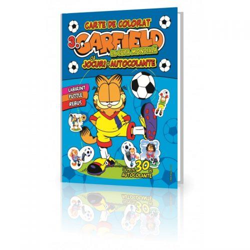 Garfield 3, carte de colorat, cu jocuri distractive (ed. tiparita)