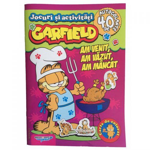Garfield: Am venit, am vazut, am mancat, carte cu activitati si stickere (ed. tiparita)