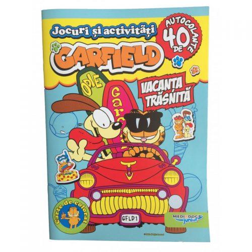 Garfield: Vacanta traznita, carte cu activitati si stickere (ed. tiparita)