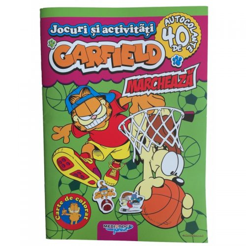 Garfield: Marcheaza, carte cu activitati si stickere (ed. tiparita)