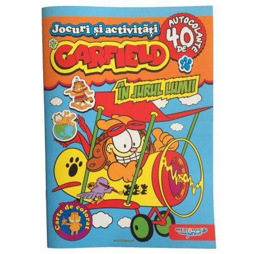 Garfield: In jurul lumii, carte de colorat (ed. tiparita)