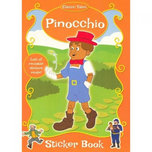 Pinochio, carte de colorat cu stickere (ed. tiparita)