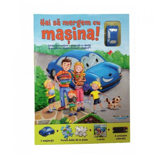 Hai sa mergem cu masina!, carte + puzzle magnetic + masinuta (ed. tiparita)