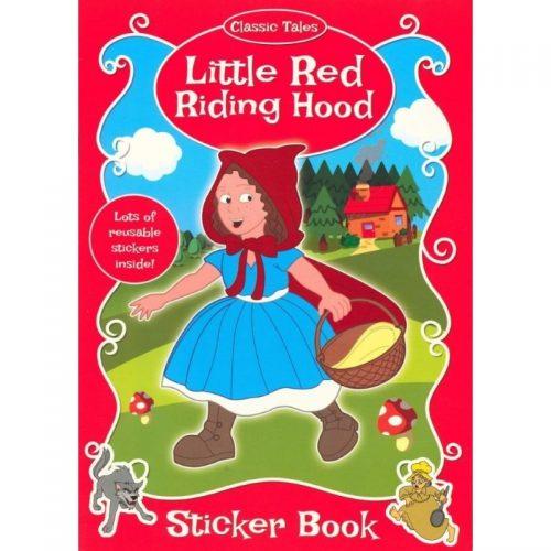 Scufita Rosie, carte de colorat cu stickere (ed. tiparita)