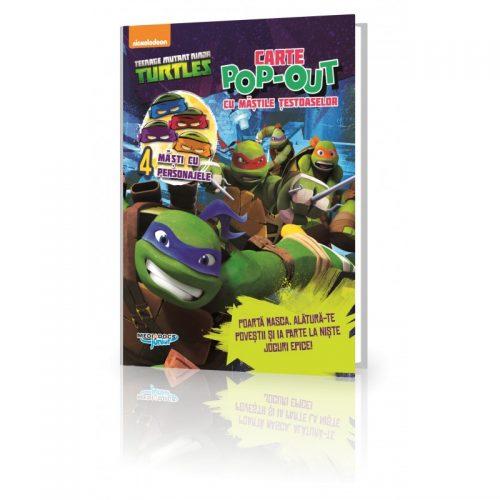 Testoasele Ninja: Carte cu activitati si mascute Pop-Up incluse (ed. tiparita)