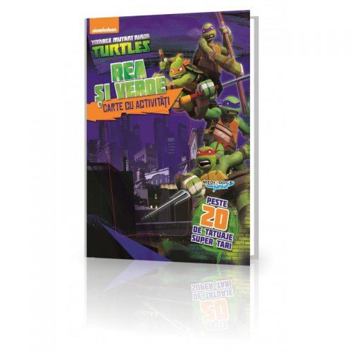 Testoasele Ninja: Carte cu activitati si tatuaje (ed. tiparita)