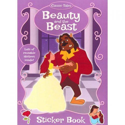 Frumoasa si bestia, carte de colorat cu stickere (ed. tiparita)