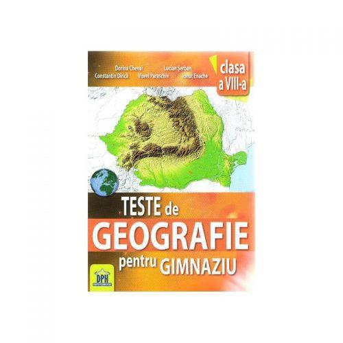 Teste de geografie, clasa a VIII-a (ed. tiparita)