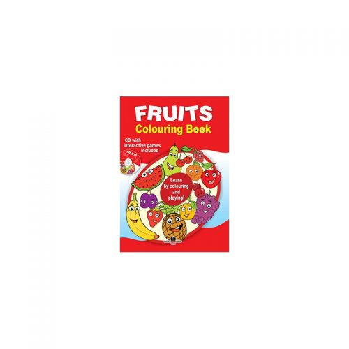 Fruits: Colouring book, lb. engleza, carte de colorat + CD