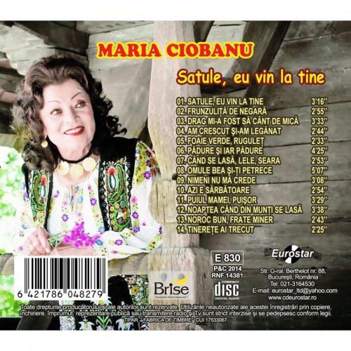 Satule, eu vin la tine (CD)