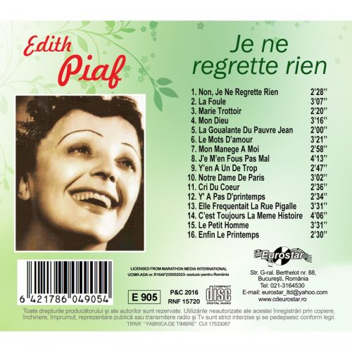 Je ne regrette rien (CD)