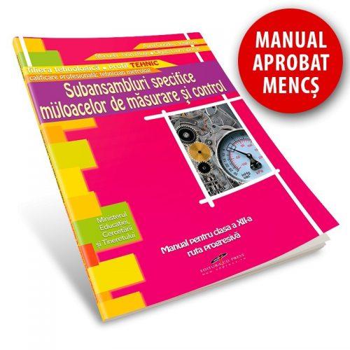 Subansambluri specifice mijloacelor de masurare si control: Manual pentru clasa a XII-a (ed. tiparita)