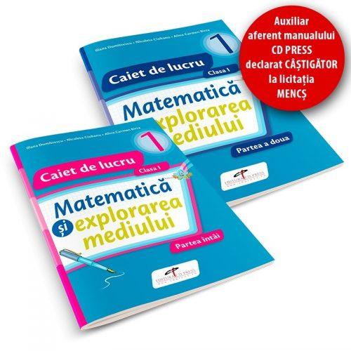 Matematica si explorarea mediului: Manual pentru clasa I, partea I + II (ed. tiparita + CD)