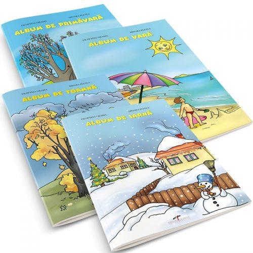 Set albume (Primavara, Vara, Toamna, Iarna) (ed. tiparita)