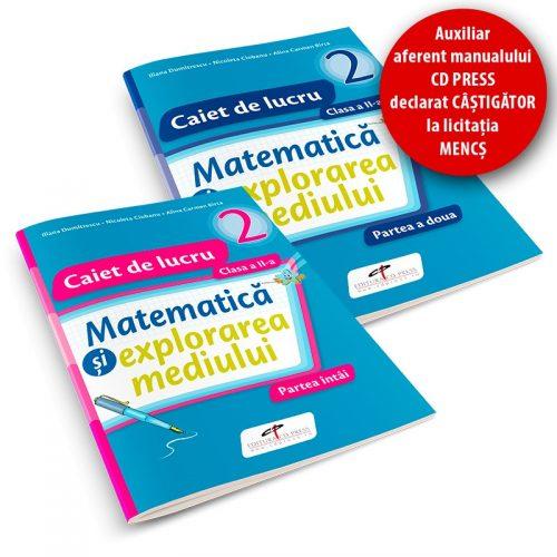 Matematica si explorarea mediului: Caiet de lucru clasa a II-a, partea I + II (editie tiparita)