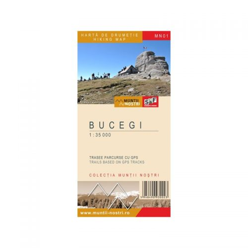 Harta de Drumetie - Muntii Bucegi, Romana/Engleza (ed. tiparita)
