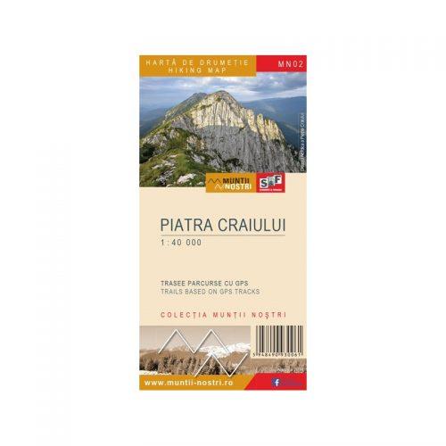 Harta de Drumetie - Muntii Piatra Craiului, Romana/Engleza (ed. tiparita)