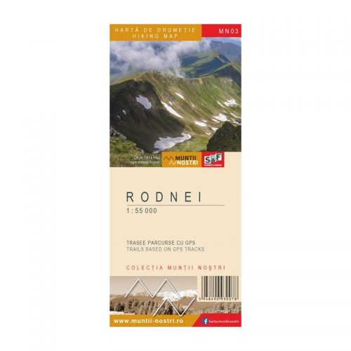Harta de Drumetie - Muntii Rodnei, Romana/Engleza (ed. tiparita)