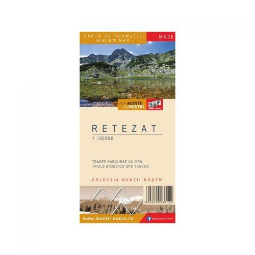 Harta de Drumetie - Muntii Retezat, Romana/Engleza (ed. tiparita)