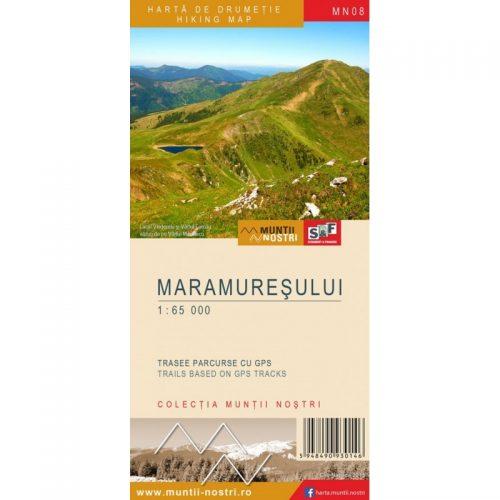 Harta de Drumetie - Muntii Maramuresului, Romana/Engleza (ed. tiparita)
