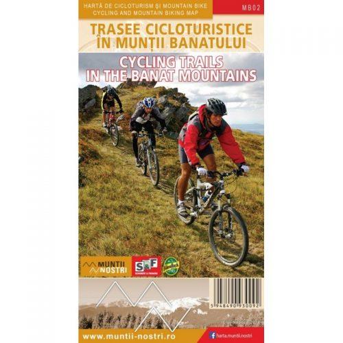 Harta de cicloturism si mountain bike: Trasee Cicloturistice in Muntii Banatului, Romana/Engleza (ed. tiparita)