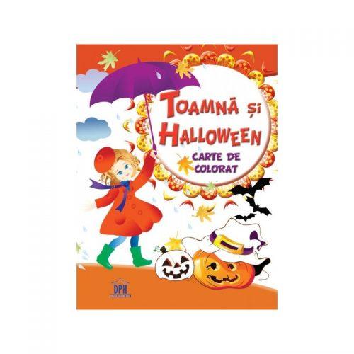 Toamna si Halloween, carte de colorat