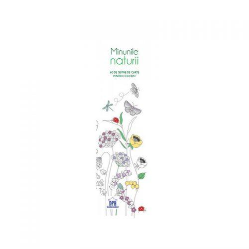 Semne de carte de colorat: Fantezii florale (ed. tiparita)