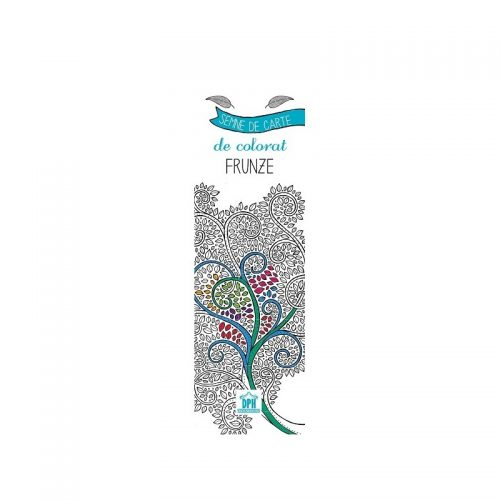 Semne de carte de colorat: Frunzze (ed. tiparita)