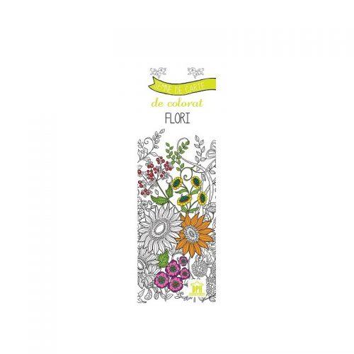 Semne de carte de colorat: Flori (ed. tiparita)