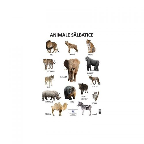 Plansa animale salbatice (ed. tiparita)