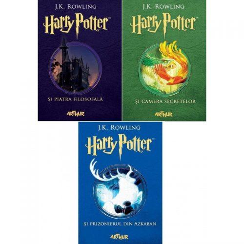 Pachet Harry Potter (volumele 1-3) - (ed. tiparita)