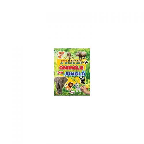 Carte de activitati cu autocolante - Animale din jungla
