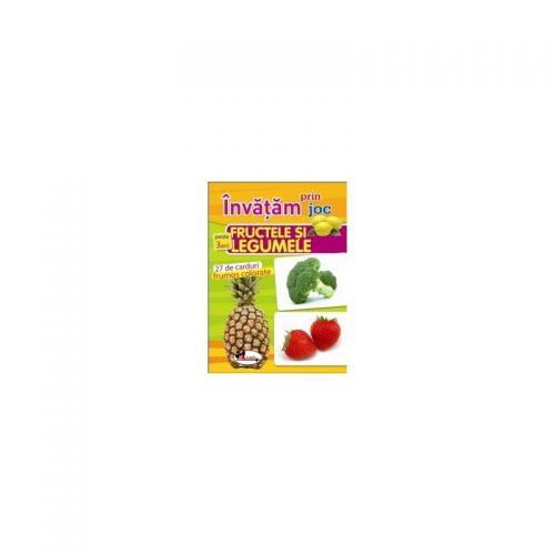 Invatam prin joc fructele si legumele +3ani. Carti de joc educative