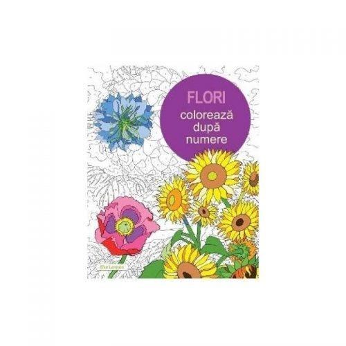 Flori. Coloreaza dupa numere (ed. tiparita)