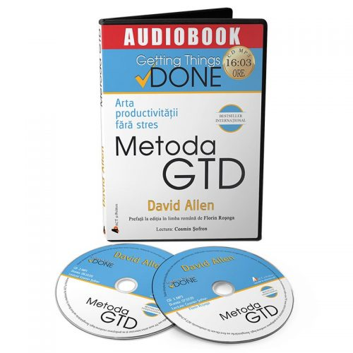 Metoda GTD. Arta productivitatii fara stres (audiobook, CD mp3)